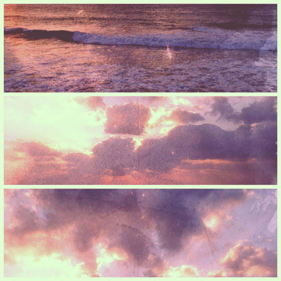 ocean sunset triptych by september28