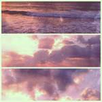 ocean sunset triptych by september28