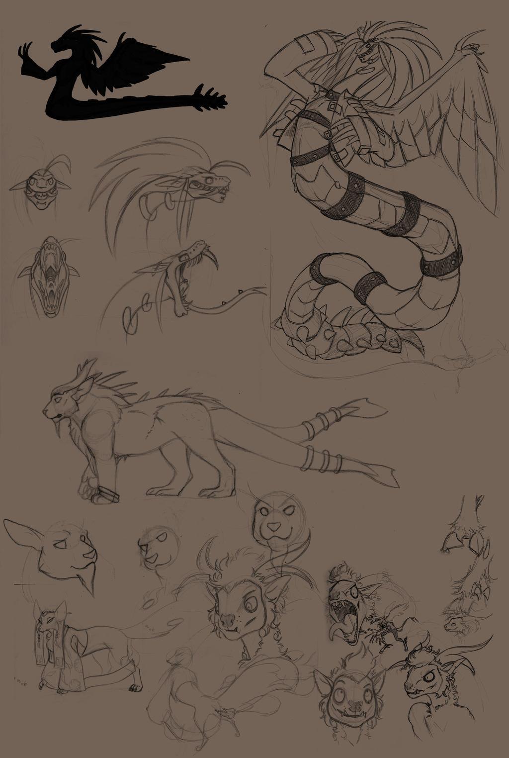 RA Sketch Dump 1 by RotAngel