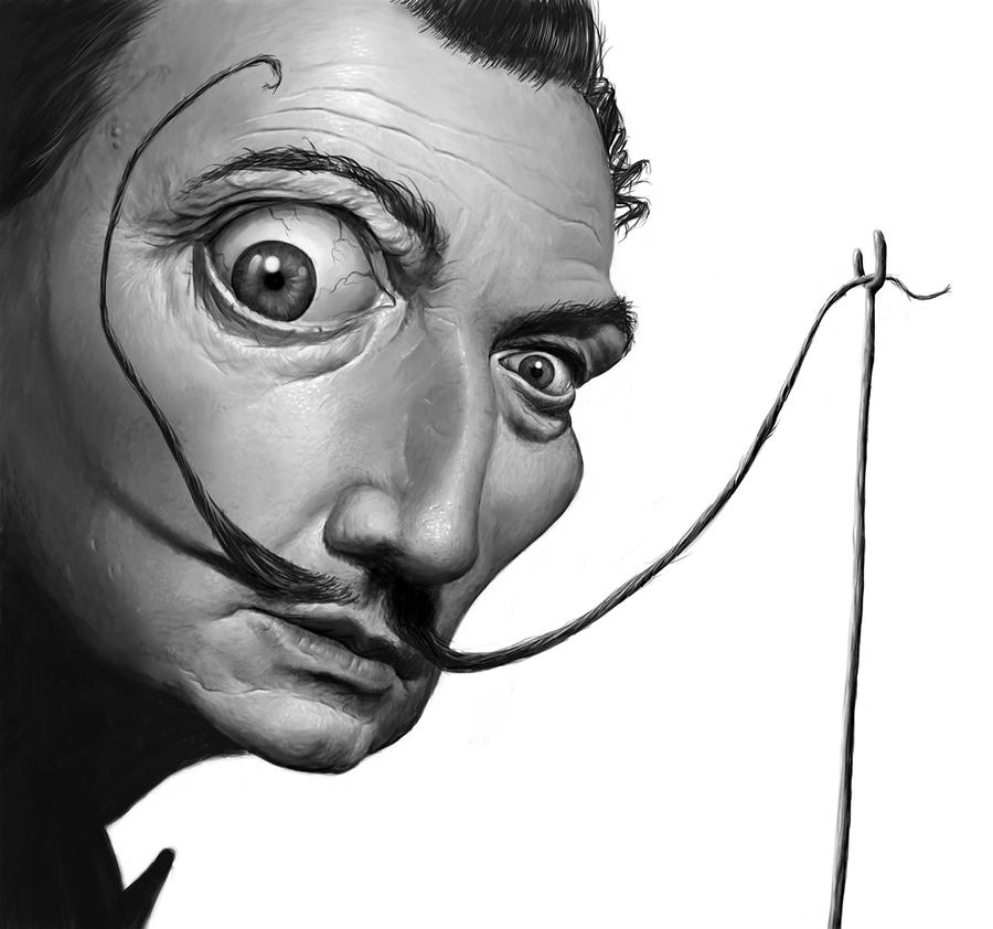 Dali Caricature by GiacomoColio