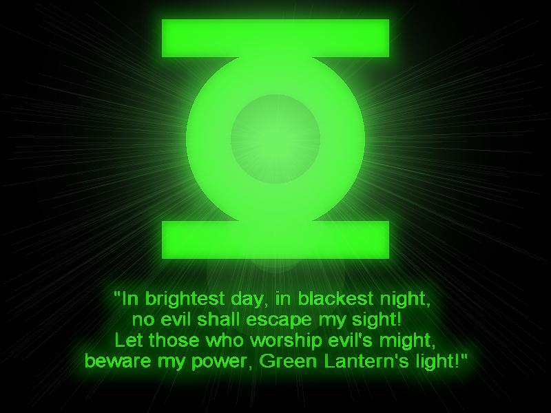 Green Lantern Oath by lycanshinobi on DeviantArt