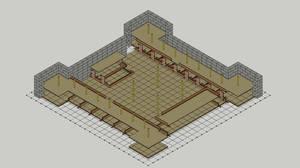 Garrison Keep, Floor 1, Cutaway, Balcony, Grid