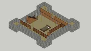 Garrison Keep, Floor 3, Isometric
