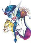 WoW: NE Huntress in Colour by Zirconia