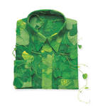 Shirt made of leaves.