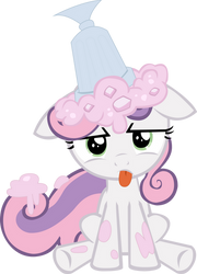 Sweetie Belle: Ice Cream on Head by CobaltWinterborn