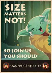 Yoda's propaganda poster by Feinobi