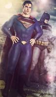 superman and bats
