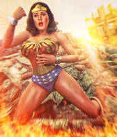 wonder woman battle commission by artdude41