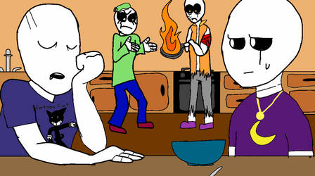 Draw the squad: Family breakfast