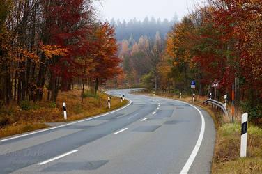 Autumn Drive by Dave-Derbis