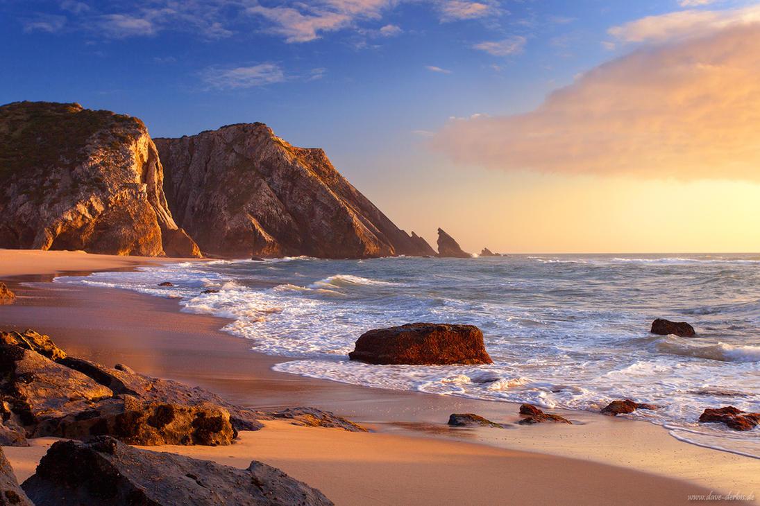 Adraga Beach by Dave-Derbis