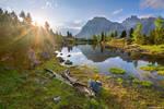 Lago di Limides Sun