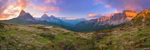 Passo Giau Sunset Panorama