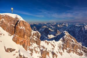 Zugspitze Golden Hour by Dave-Derbis