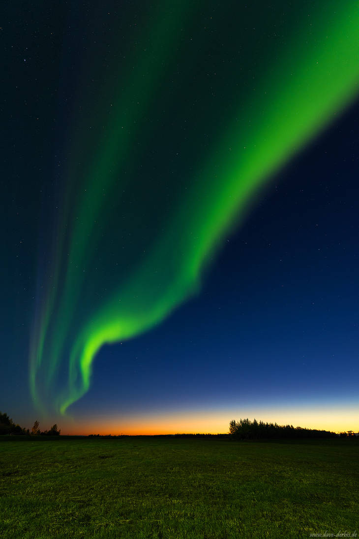 Northern Lights Sunset by Dave-Derbis