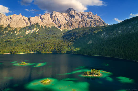Eibsee Islands by Dave-Derbis