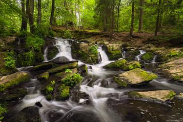 Selke Falls Summer by Dave-Derbis