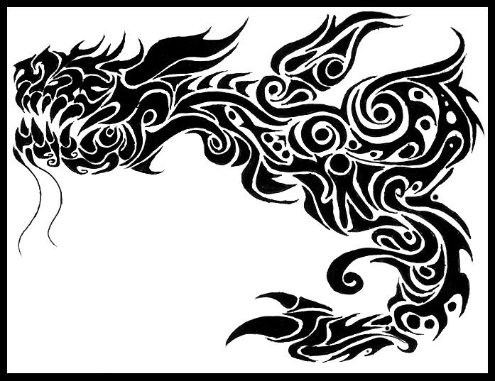 Tribal Dragon by Morbidmic