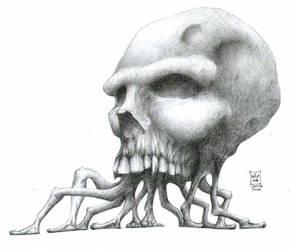 Walking skull