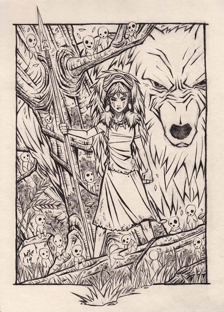Princess Mononoke by Morbidmic