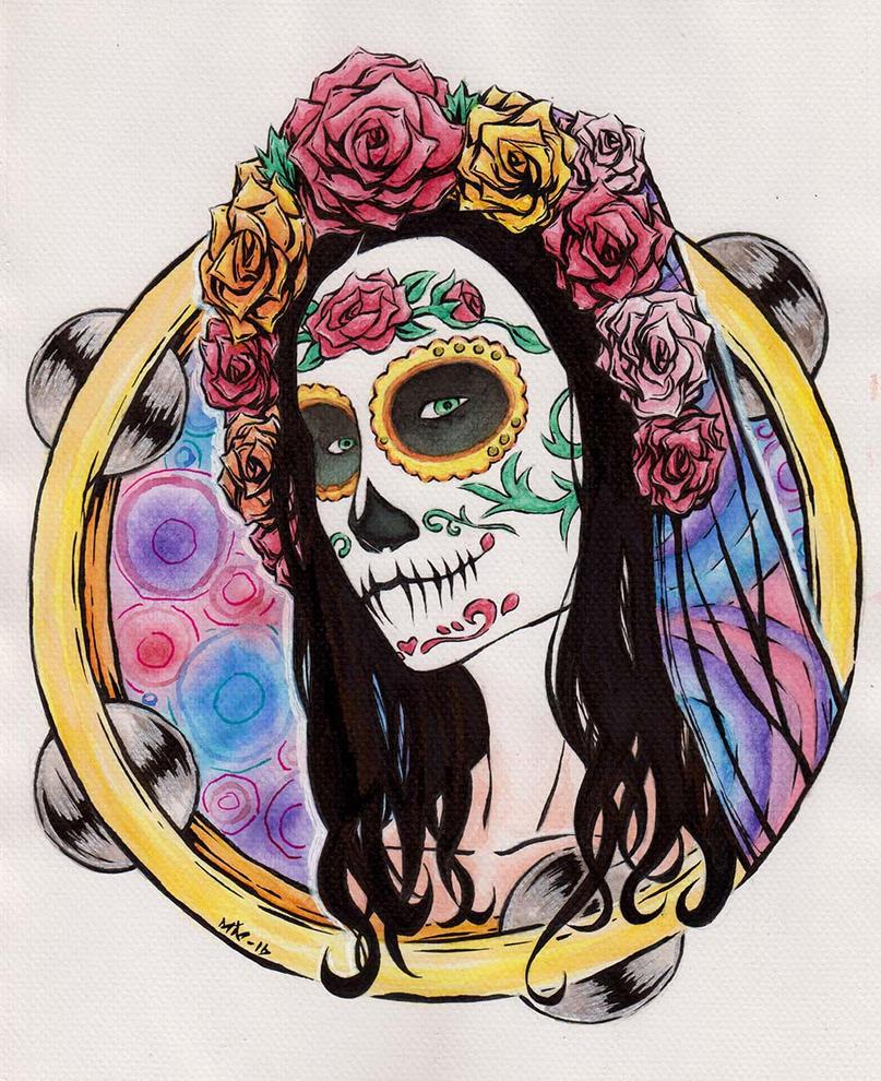 Tambourine Skull Girl by Morbidmic