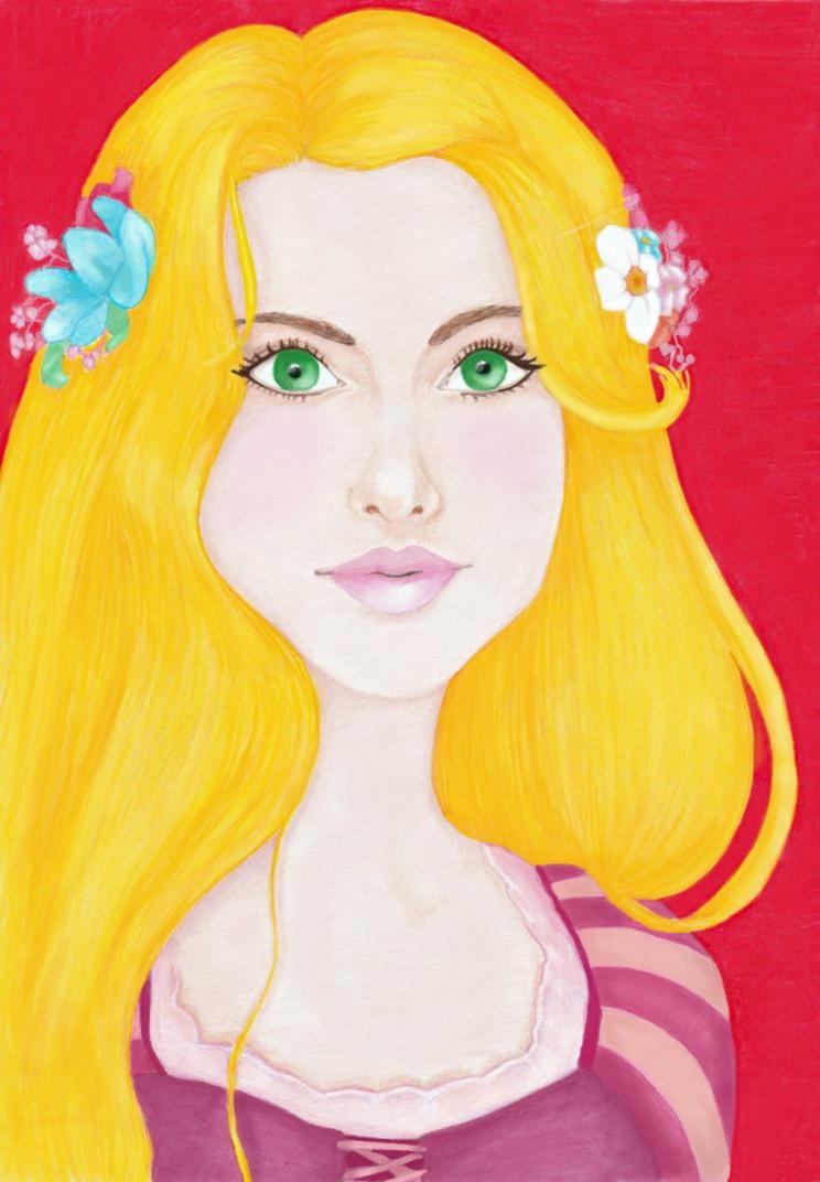 Rapunzel by AnastasiaRedApple