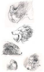 Plant Spirit Sketches IV by AlectorFencer