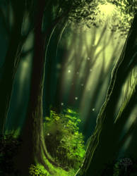 Forest quickie by AlectorFencer
