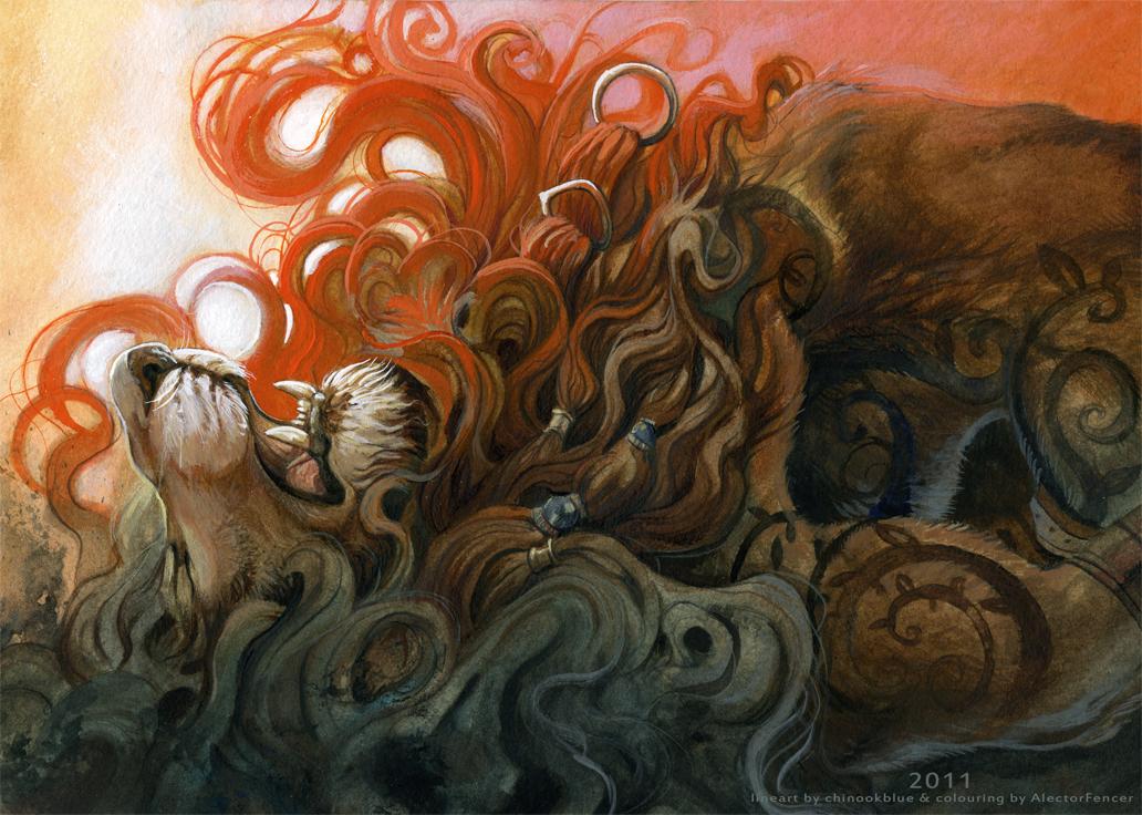 Der Tod eines Loewen by AlectorFencer
