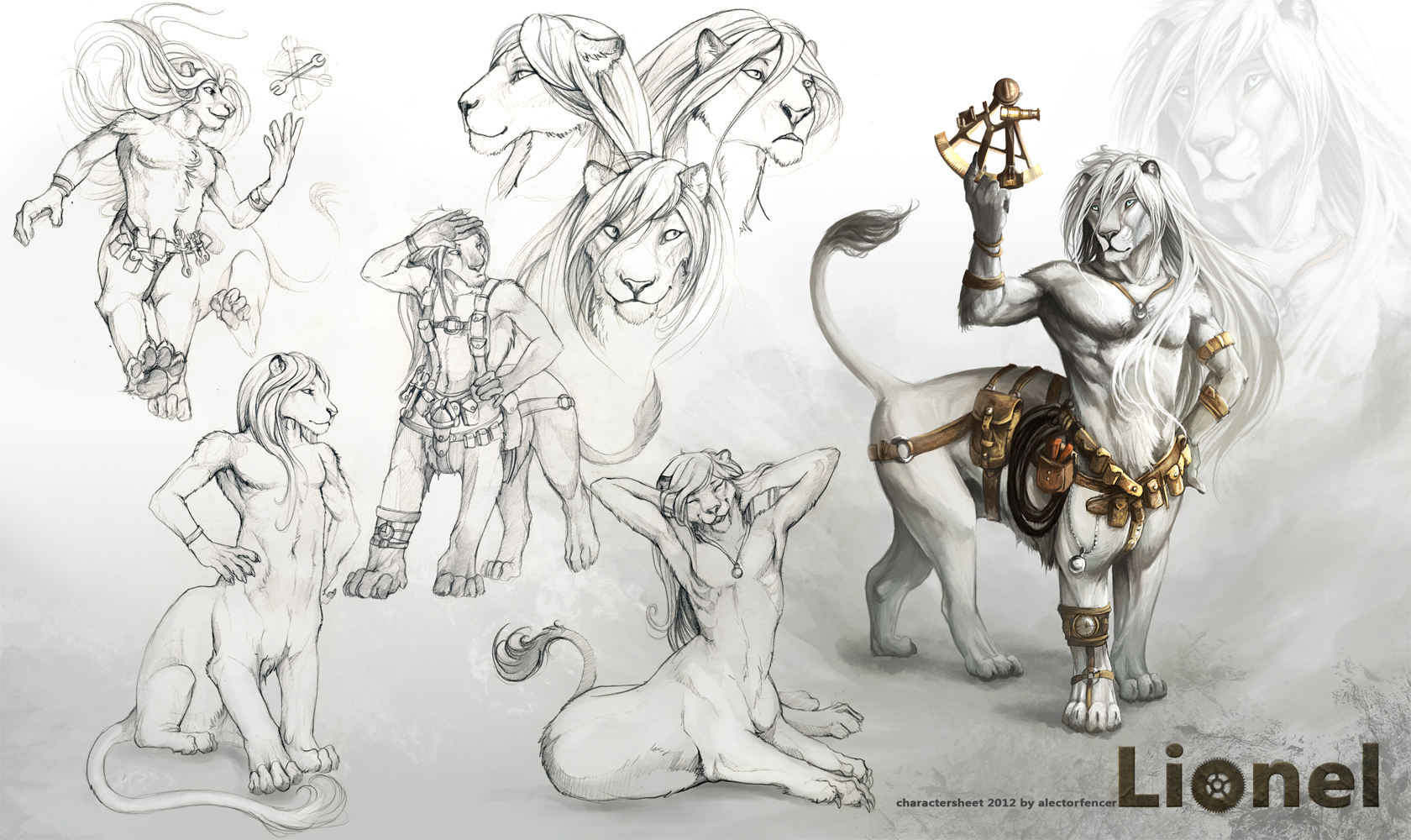 Lionel - Charactersheet by AlectorFencer