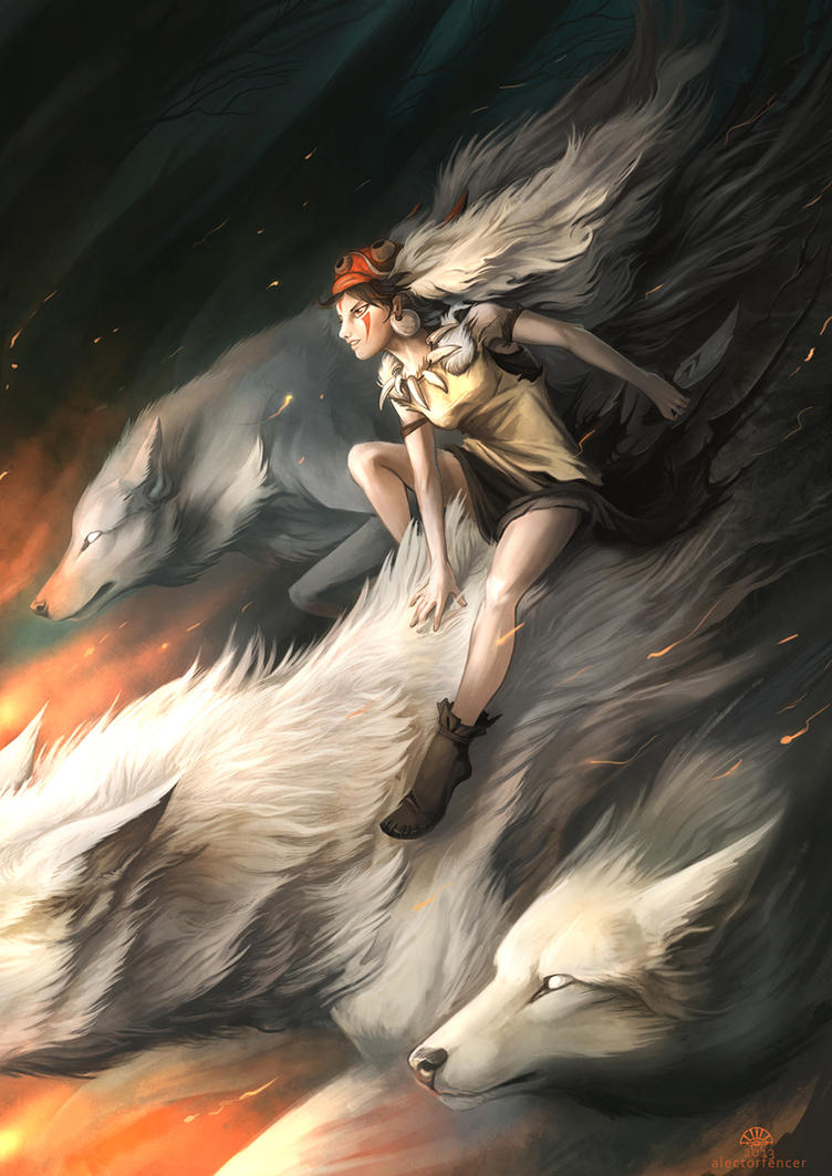 Princess Mononoke by AlectorFencer