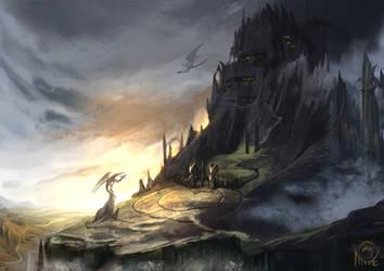 Dragon Dwellings by AlectorFencer