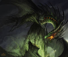 MYRE - The Great Black Dragon by AlectorFencer