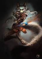 Wolftale Dragon Rider by AlectorFencer