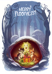 Merry Floofness by AlectorFencer