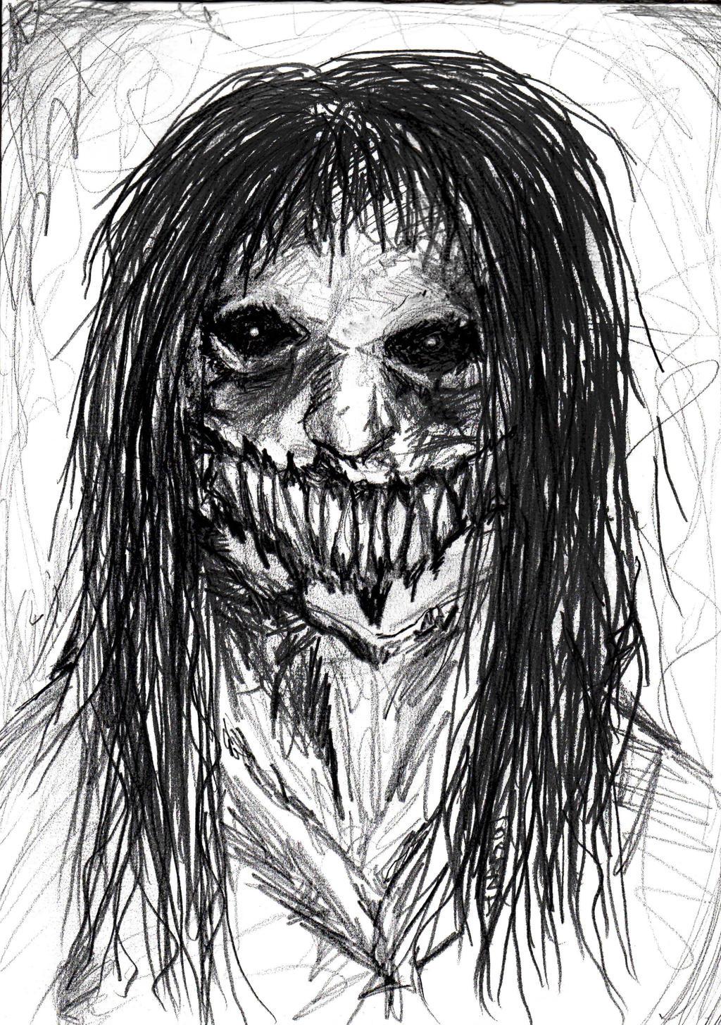 Creepy Face Sketch By CiervoAxis On DeviantArt