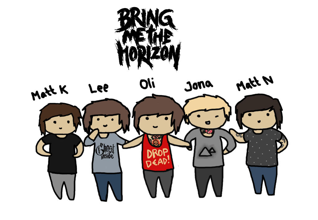 Bring Me The Horizon (Cartoon Style!) by Uniblood