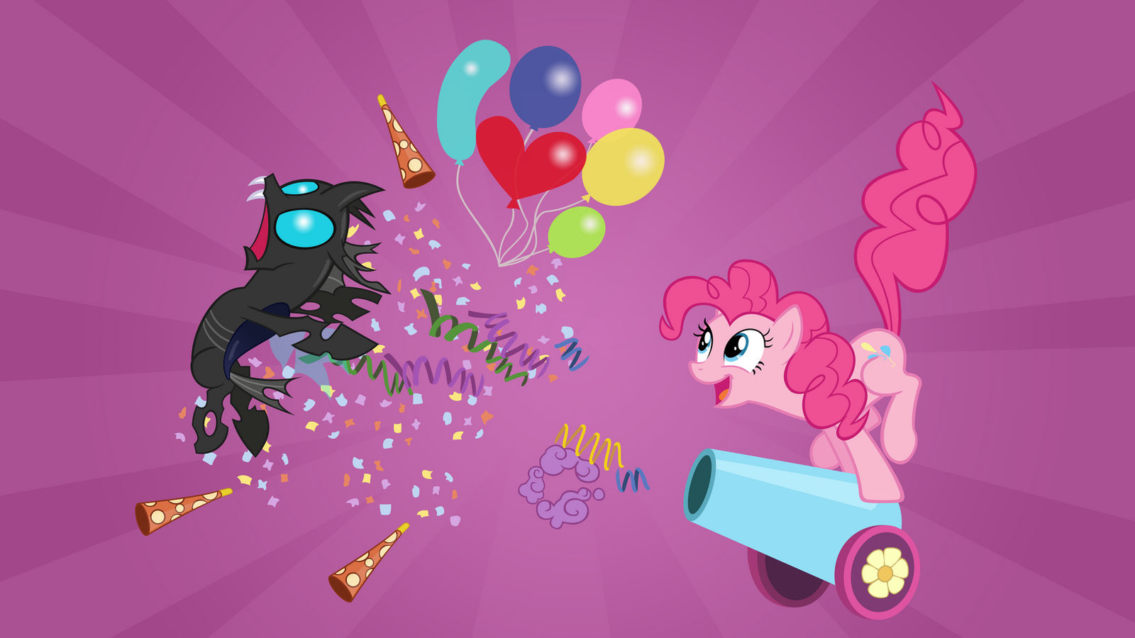 Pinkie Pie uses 'Party Cannon'