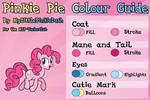 Pinkie Pie Colour Guide