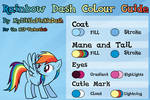 Rainbow Dash Colour Guide
