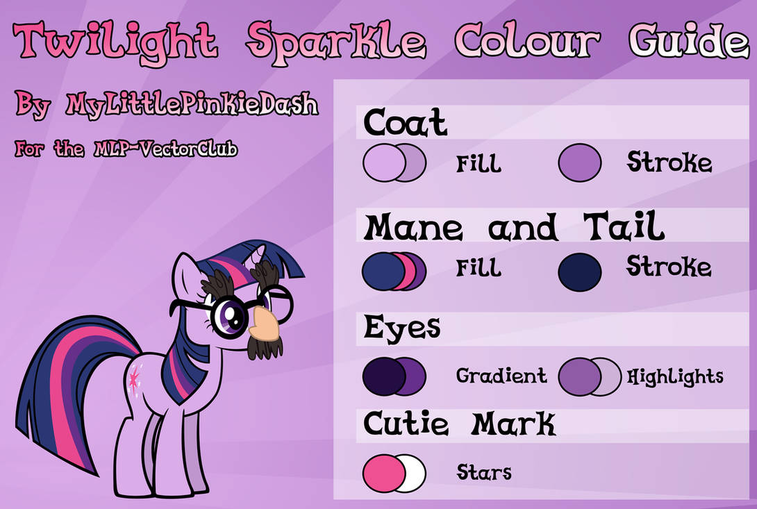 Twilight Sparkle Colour Guide by Atmospark