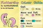 Fluttershy Colour Guide - UPDATED