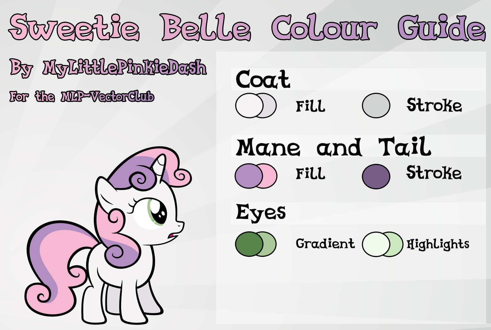 My little pony friendship is magic coloring pages sweetie belle - Sweetie Belle Colour Guide By Atmospark