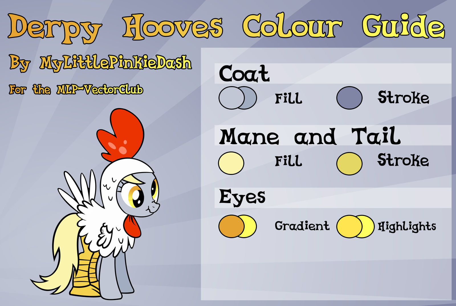 Derpy Hooves Colour Guide by Atmospark
