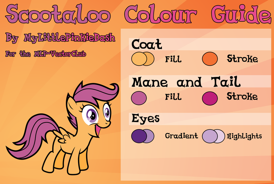 Scootaloo Colour Guide Updated By Atmospark On Deviantart