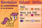Scootaloo Colour Guide - UPDATED
