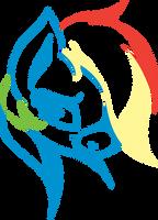 Stylised Rainbow Dash by Atmospark