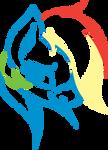 Stylised Rainbow Dash
