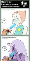 How to eat a ice-cream ! Steven Universe
